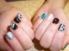 mint leopard nails