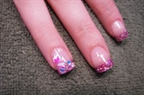glitter pink french