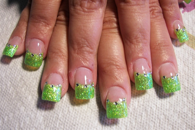 Tinker bell green nail art gallery tinker bell green prinsesfo Gallery