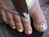 daisy's 2 toes nails by janya