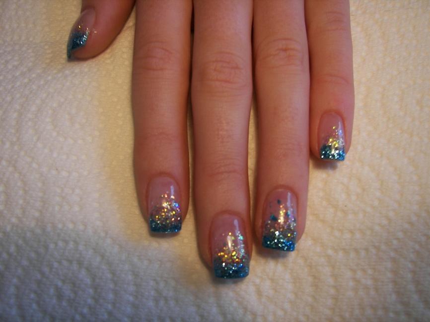 Blue French Nails by Janya - Nail Art Gallery