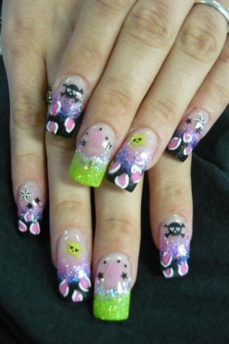 Summer Party Nails by Janya