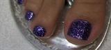 Rock Star Purple Toes Nails by Janya
