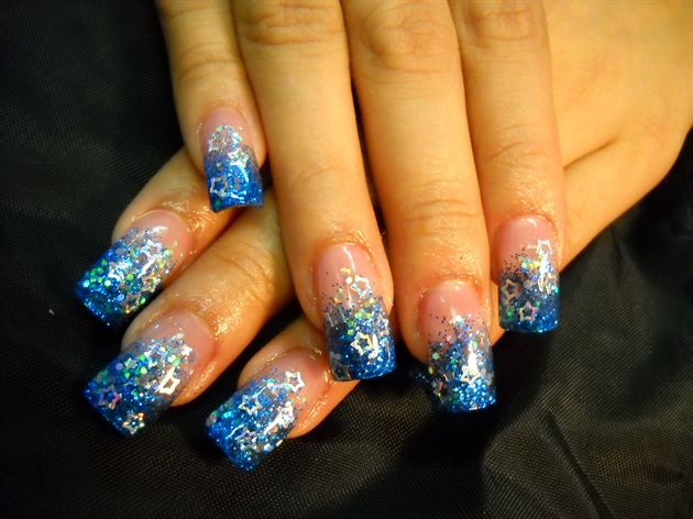 Blue Stary Dreams Nails by Janya
