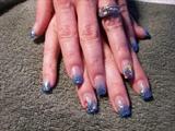 Ocean Blue Nails by janya