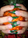 2nd set of Stiletto Nails by Janya