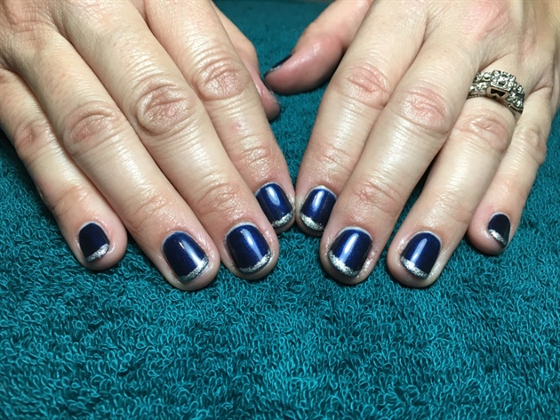 Navy with Silver French