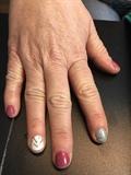 Silver chevron & Glitter