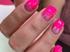 Hot pink gel manicure