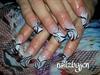 pink n white zebra
