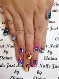 Funky Boxing Nails.
