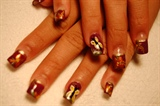 mixed nail art