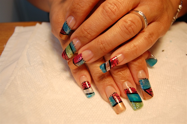 my nails luv them