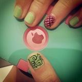 Mint Green & Swirls
