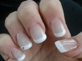 white french+shimmer dust