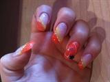 orange-yellow-silver shimmer