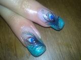 peacock! polish design