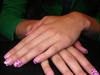 frenche pink with zebra nailart