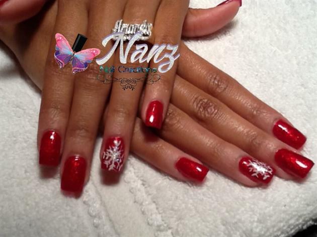 Red Polish And Snowflake