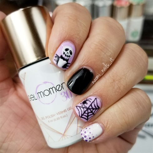 Purple and Black NBC Manicure