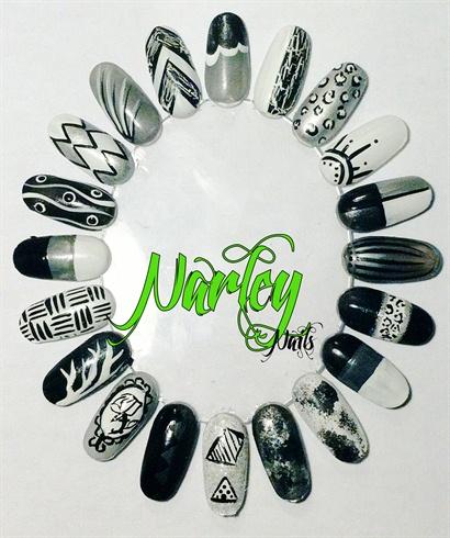 Greyscale Nail Art Wheel