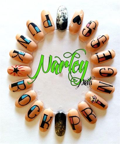 Knuckle Tattoo Nail Art Wheel