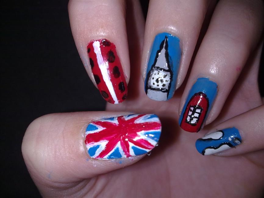 London inspired nail art :D - Nail Art Gallery