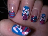Easter nail art (bunnies and eggs)