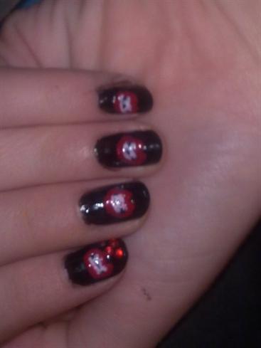 Vampire teeth nail art nail art gallery vampire teeth nail art prinsesfo Choice Image