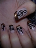Musical nail art