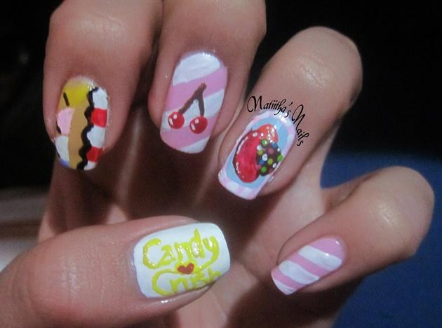 Candy Crush Nail Art Gallery