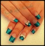 Glitter prom nails