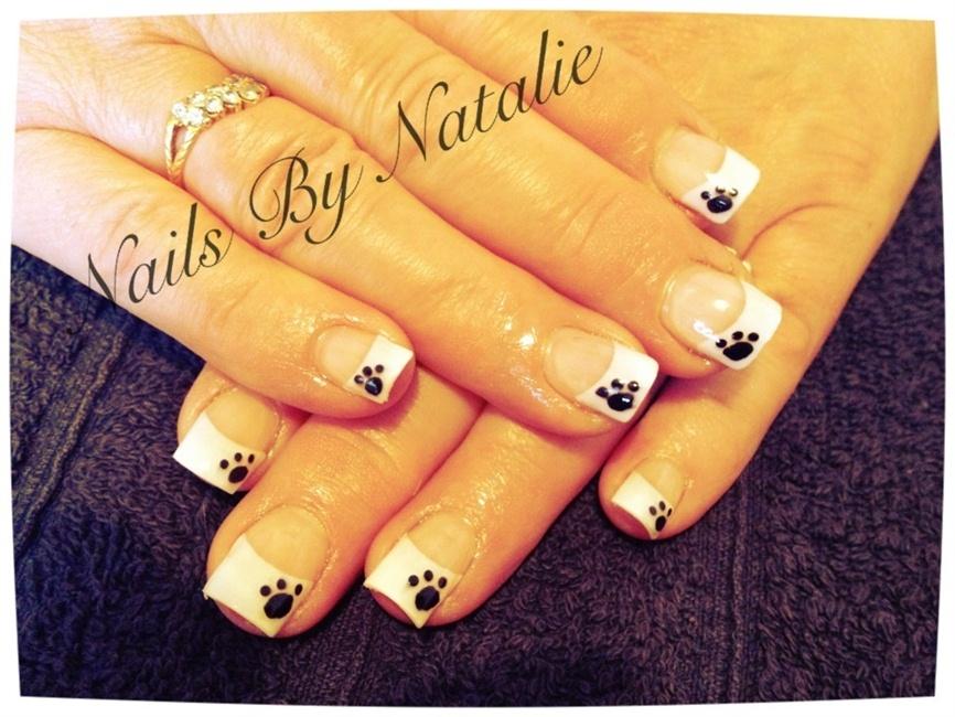 Puppy Print Nail Tips Nail Art Gallery