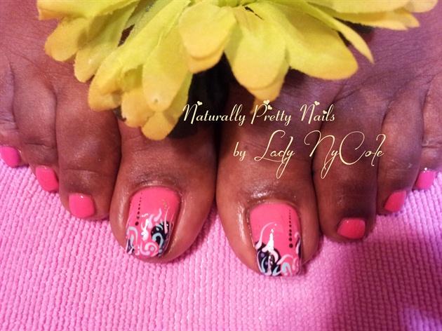 Peachy-Pink Pedi