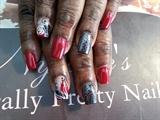 Black/Red w/ rose