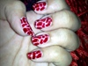 red giraffe prints