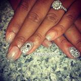 silver and rhinestones