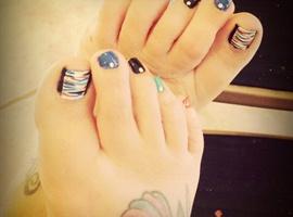 nail art: Toe Art