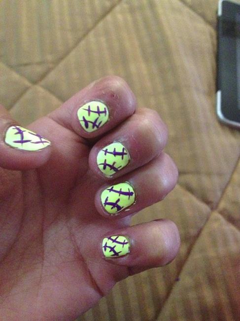 Softball Nail Art Gallery