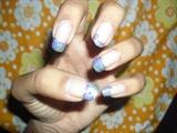 blue half tip W roses