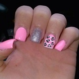 Pink Leopard With Sparkle