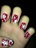 Ruby Snowflakes