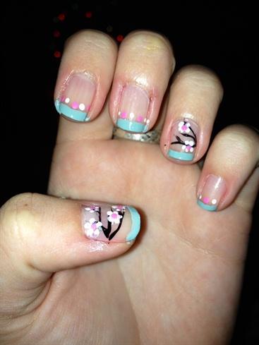 Short Nails Cherry Blossom