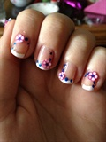 Fimo Flower French Tip