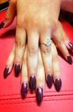 Wine Stiletto Acrylic Nails