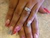 Pink Silver Stiletto Coffin Sparkles