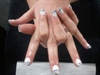Zebra French polish over gel nails