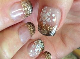nail art: Bronze & Brown