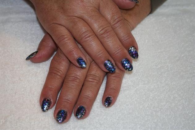 Blue Foil Snake Skin