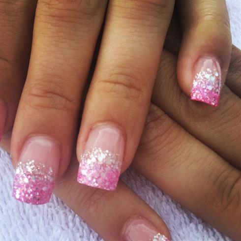 Pink N Silver Glitter Fade